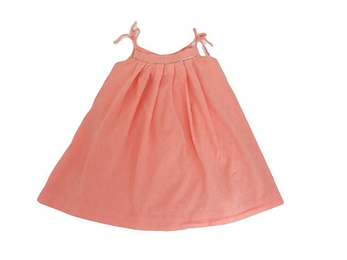 Robe Zara corail à fines bretelles 4/5 ans