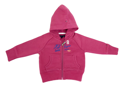 Sweat Ralph Lauren à capuche rose 6/9 mois