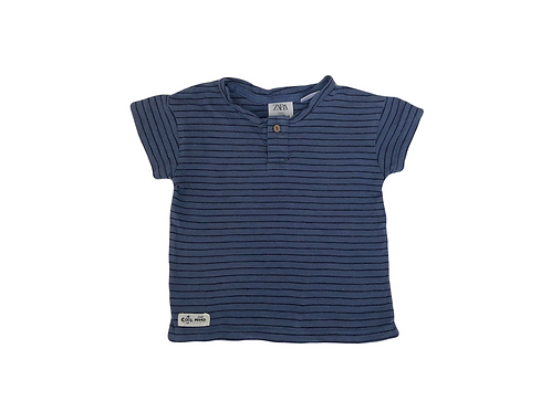 T-shirt Zara bleu rayé 3/6 mois (68cm)