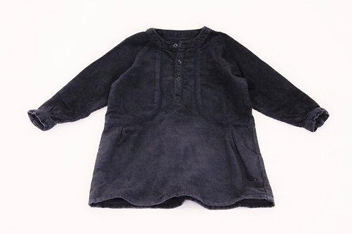 Robe Bleu comme Gris en velour bleu marine 12 mois