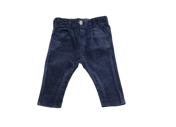 Pantalon Zara en velour bleu 3/6 mois