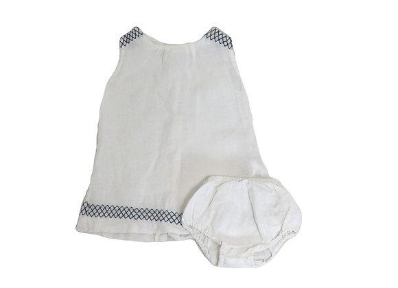 Robe Gocco lin blanc 12/18 mois