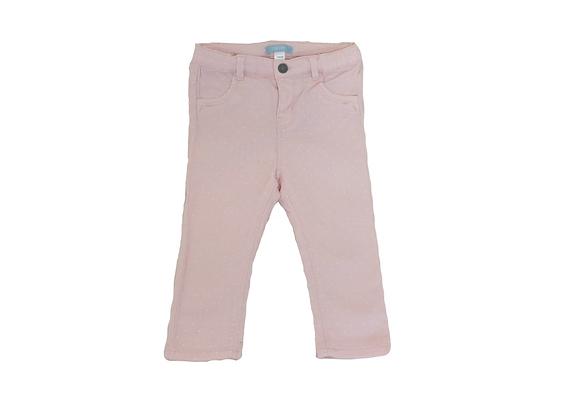 Pantalon Obaibi rose pois blancs 18 mois