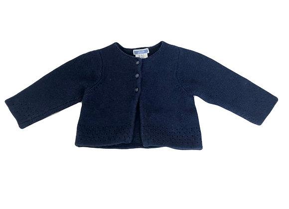 Gilet Jacadi en laine bleu 12 mois