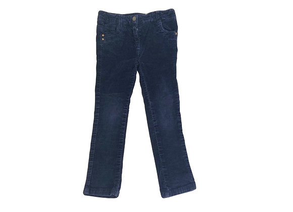 Pantalon Tape à l'oeil en velours bleu 4 ans