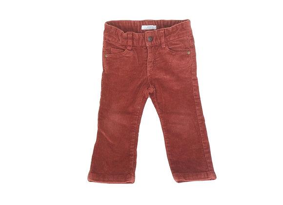 Pantalon Jacadi en velours côtelé rouge brique 18 mois