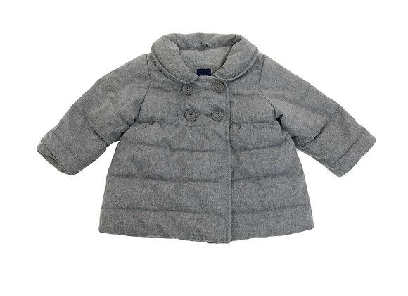 Manteau Baby Gap gris à col 6 mois