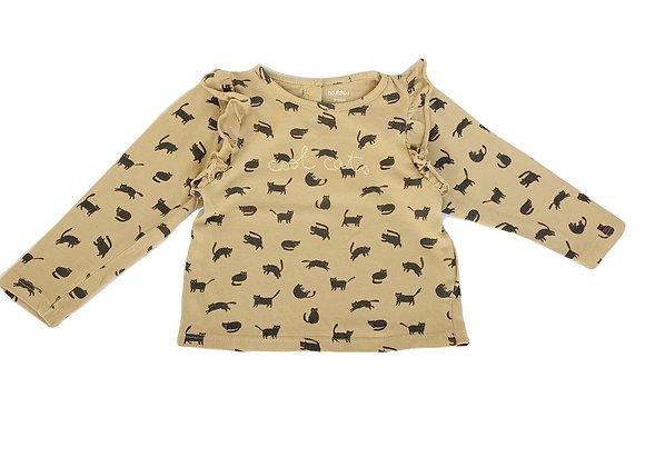 T-shirt Bout'chou camel imprimé 9 mois