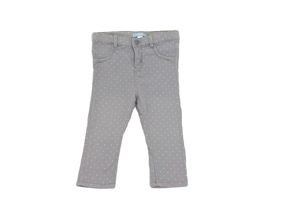 Pantalon Obaibi gris à pois 18 mois