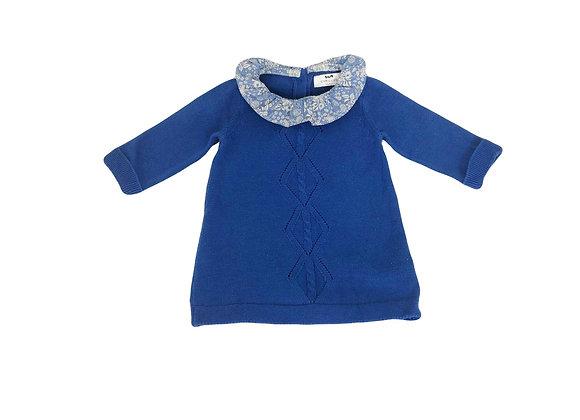 Robe Cyrillus bleue à col 6 mois