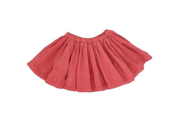 Jupe Bonton en velours rouge 4 ans