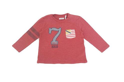 T-shirt à manches longues IKKS rouge 12 mois