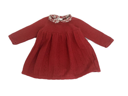 Robe-pull Cyrillus rouge à col 6 mois