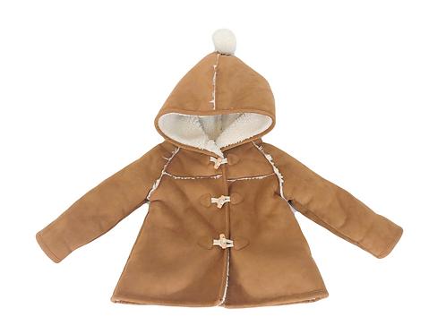 Manteau Zara en peau 12/18 mois (86cm)