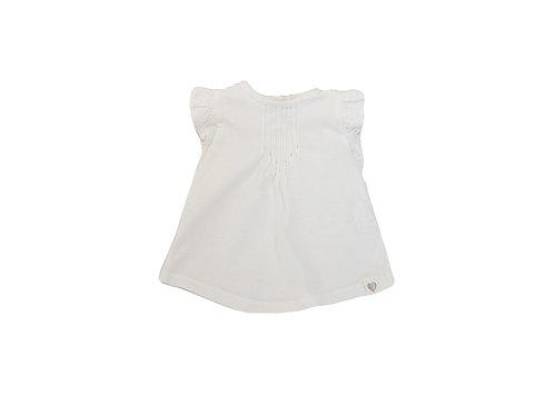 T-shirt Tape à l'oeil blanc à volants 6 mois