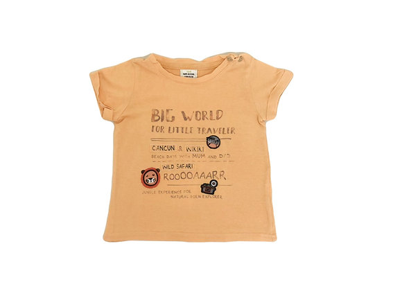 T-shirt Tape à l'oeil orange 2 ans