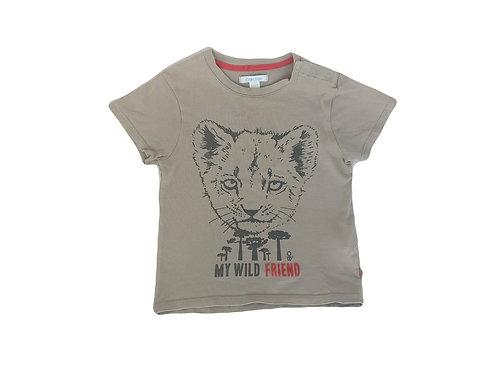 T-shirt Obaibi imprimé marron 2 ans