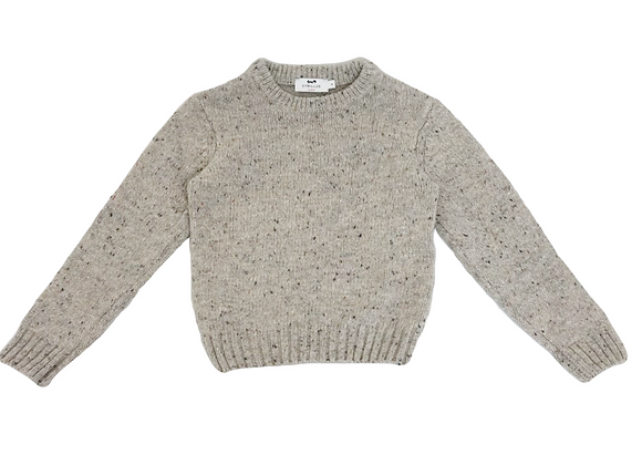 Pull Cyrillus chiné beige 4 ans