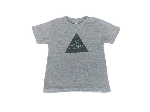 T-shirt American Apparel gris 6 ans