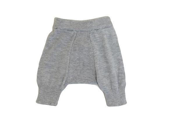 Legging Tape à l'oeil en laine gris 0 mois mixte