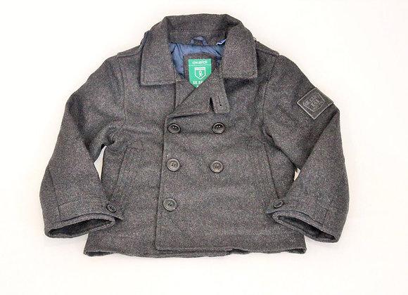 Manteau Okaidi en laine gris 4 ans