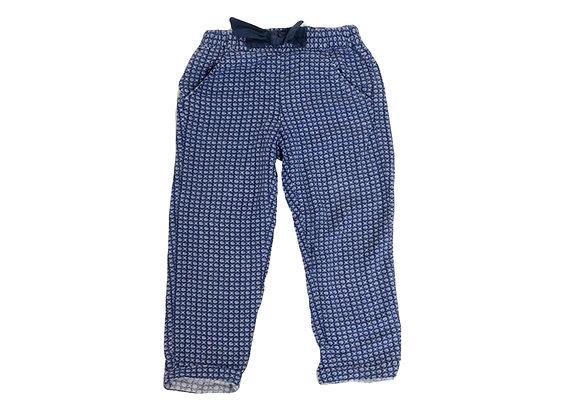Pantalon Okaidi motifs bleus 3 ans