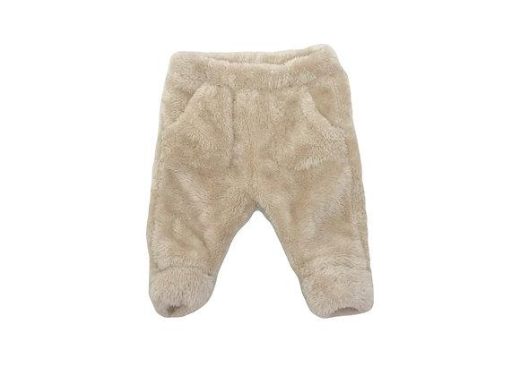 Pantalon Zara en fourrure beige 3/6 mois (68cm)