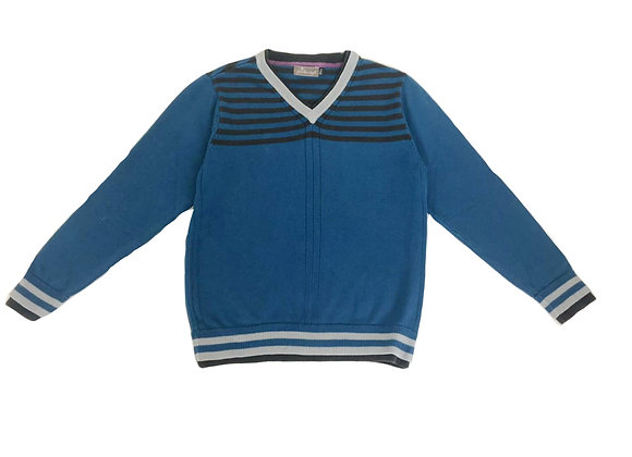 Pull Jean Bourget au col V 10 ans