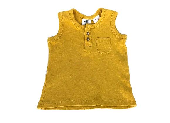 Débardeur Zara jaune 9/12 mois (80cm)
