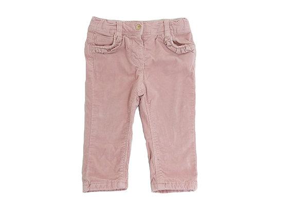 Pantalon Tape à l'oeil velours rose 9 mois