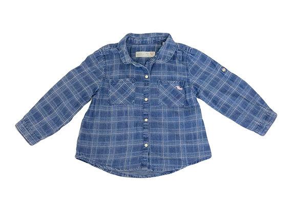 Chemise Zara à carreaux 18/24 mois (92cm)