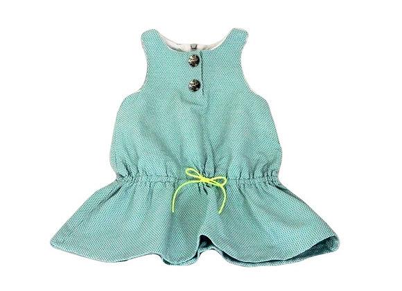 Robe Lili Gaufrette bleue 2 ans