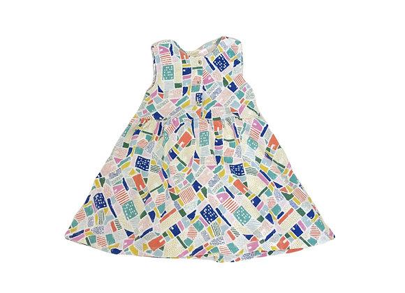 Robe Zara imprimée 3/4 ans (104cm)