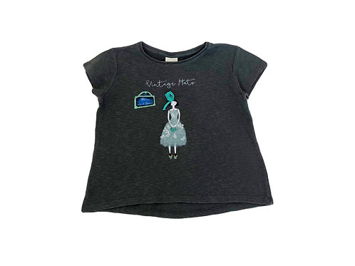 T-shirt Zara gris 7 ans