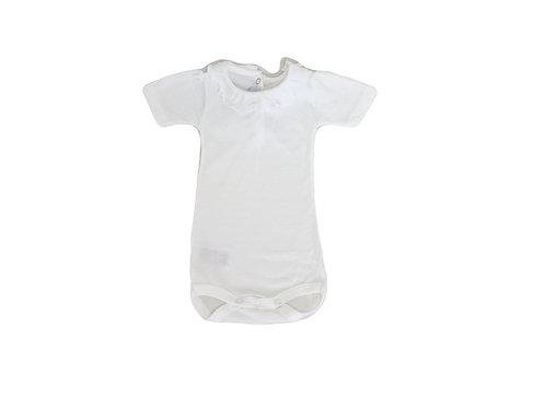 Body Petit Bateau blanc à col 1 mois