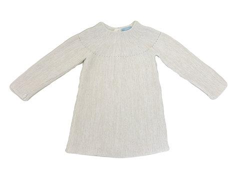 Robe-pull Obaibi beige 2 ans