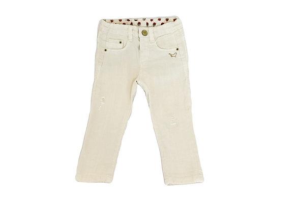 Pantalon Zara blanc cassé 9/12 mois (80cm)