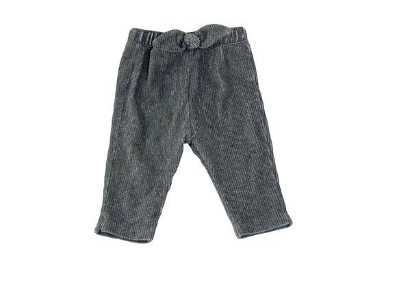 Pantalon Zara en velour côtelé gris 3/6 mois