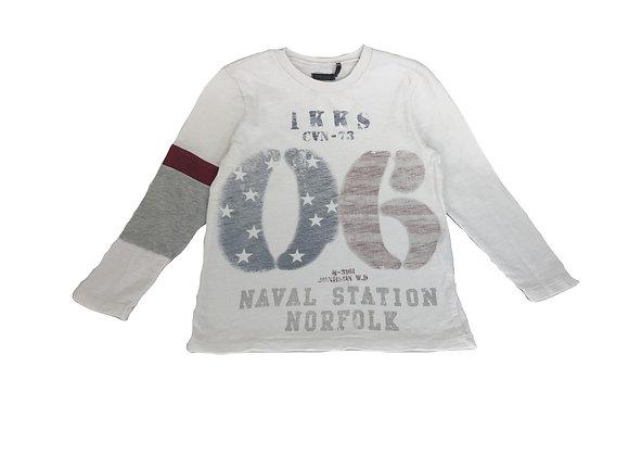 T-shirt IKKS blanc imprimé 4 ans