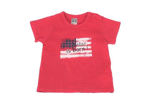 T-shirt Tape à l'oeil rouge 18 mois