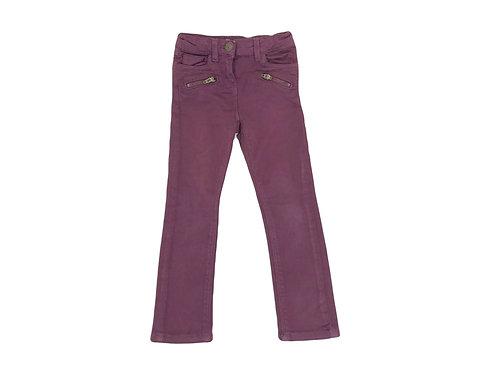 Pantalon Tape à l'oeil super skinny mauve 3 ans