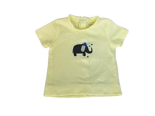 T-shirt Natalys jaune imprimé 6 mois