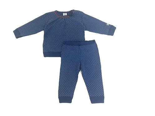 Pyjama 2 pièces Petit Bateau bleu 6 mois