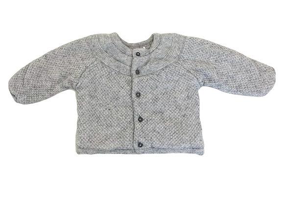 Gilet Bout'chou en laine épaisse gris 6 mois mixte