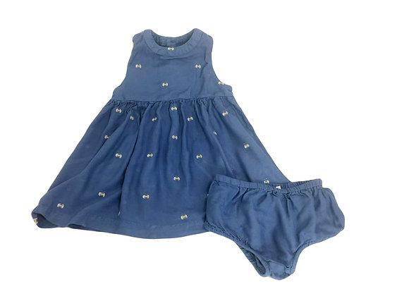 Robe Bout'chou bleue 12 mois