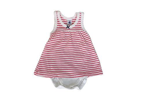 robe Petit Bateau rayée rouge 6 mois
