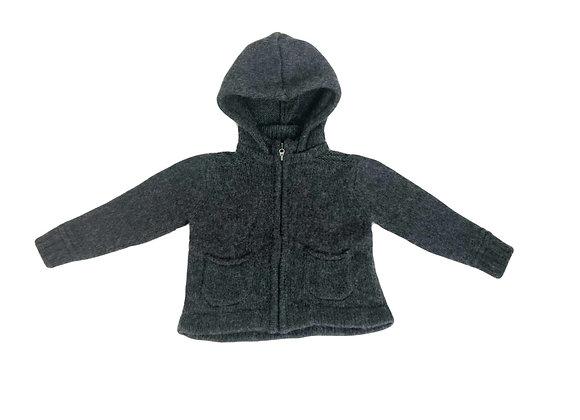 Gilet Zara à capuche gris 12 mois
