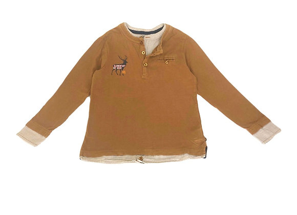 T-shirt longues manches Okaidi camel 8 ans