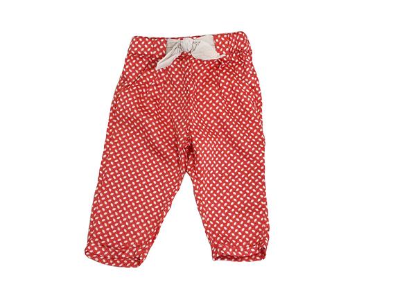 Pantalon Tape à l'oeil toile rouge 6 mois
