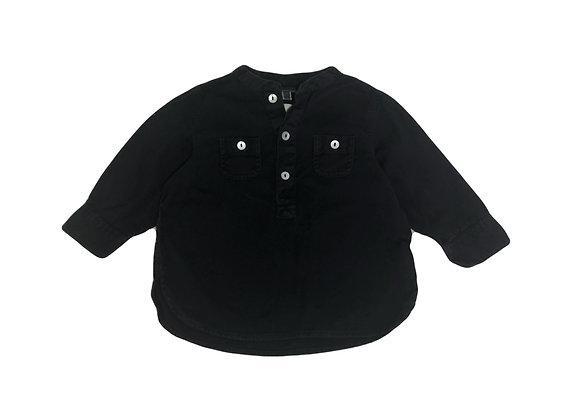 Chemise Bonton noire 12 mois